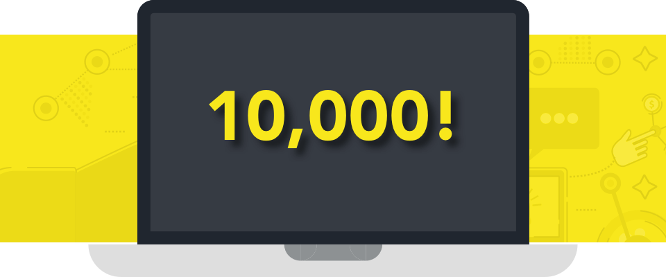 10,000 Podcasters!